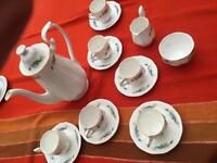 Vintage Bone China Coffee Set