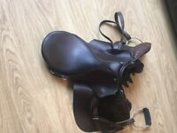 Horse Saddle with Accessories.