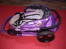 Hardly used pushchair stroller buggy pram compact one hand fold nearly new