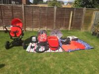 Quinny Moodd with car seat and cot