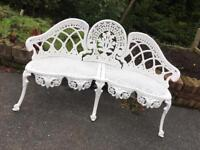 Cast iron bench reduced