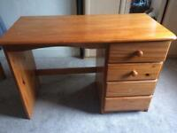 2 Bedroom Drawers + 1 wooden dressing table