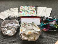 Bundle of Reusable Nappies. From infant to toddler