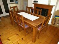Solid Mango Wood Dinning Table