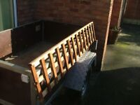 Trellis top of fence 6'x1' with capping rail