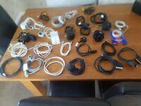 Joblot Bundle Of Cables Leads for TV, Laptop, Console, Printer etc