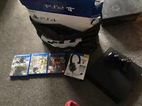 Play station 4 with box, head set & 3 games £200