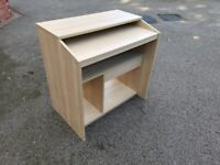 IKEA Goliat Beech Veneer Computer Desk with Drawers & Shelves FREE DELIVERY 8854