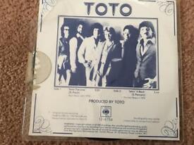 Picture disc 45 vinyl TOTO