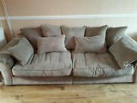 4 seater and cuddle chair sofa set scatter back