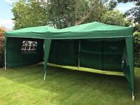 Tarpaulin 6x3 meters with sides and metal frame