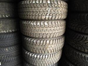 205/65R16 SET OF 4 MATCHING USED BRIDGESTONE SNOW TIRES