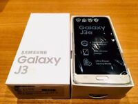 SAMSUNG GALAXY J3 BRAND NEW, 1 YEAR WARRANTY, ACCESSORIES