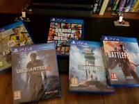 PS4 inc 5 games few months old