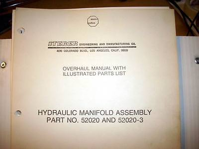 Sterer Hydraulic Manifold 52020 and 52020-3 Overhaul & Parts Manual