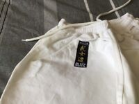 Blitz White Diamond Karate trousers