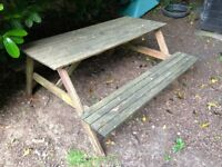 Wooden Ikea Picnic Table