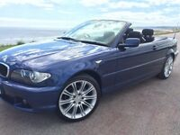 ONLY 80K GENUINE MILEAGE 06 BMW 318 *CONVERTIBLE* FSH, FULL YEAR MOT, IMMACULATE