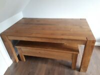 NEXT dining table with bench.