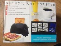 Brand new black toaster