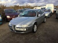 52 reg Alfa Romeo 147 1600 cc sports coupe red leather 1 yrs mot lovely driver alloy wheels px welco