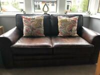 Barker and Stonehouse Brown Leather Sofa