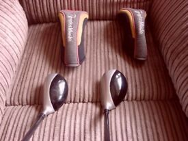 Taylormade r7 draw hybrids 19* and 25* regular + headcovers