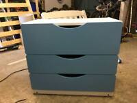 Ikeas blue chest of drawers