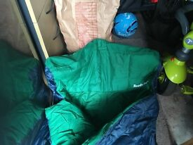 Inflatable ready bed/sleeping bag camping
