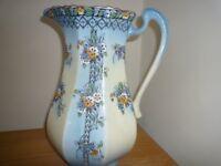 Large China jug blue/white floral