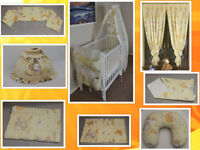 nursery set canopy lampshade curtains swaddle nursing pillow cot bumper changing mat duvet cover fo