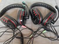 Gembird gaming Skype headphones with microphone x 2