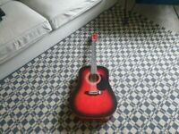 Falcon FG100R Dreadnought Acoustic Guitar good condition and fully working