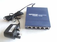 Netgear ProSafe FS105 5-Port 10/100 Fast Ethernet Switch - Used and working.