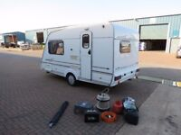Swift Classic 2000 year,2 berth end kitchen,840 kg,serviced,awning,accessories,outstanding condition