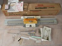 LOVELY VINTAGE EMPISAL KNITMASTER HK-160 KNITTING MACHINE WITH ACCESSORIES