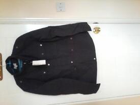 Man's black light weight jacket