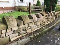 dressed sandstone wall 5 metres