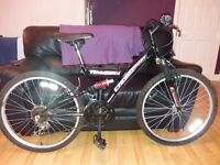 """Falcon cross flow mountain bike 24"""" wheels with good tred,15 gears in working order. good condition"""