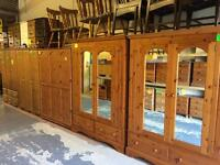 Solid wood / pine wardrobes