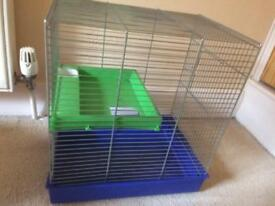 Hamster cage with extras as shown