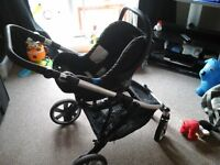 Britax B-dual push chair car seat and 2 x isofix bases.