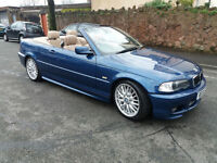 2001(51)BMW 330Ci SPORT CONVERTIBLE AUTOMATIC MET BLUE,TAN LEATHER,CLEAN CAR,GREAT VALUE