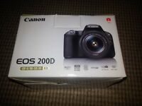 Brand New in box - CANON EOS 200D DSLR Camera + 18-55 mm f/3.5-f/5.6 DC Lens