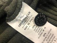 Stone Island Men's 1/2 Button & Zip Jumper - Military Green (Extra Large)