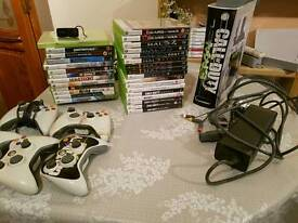 XBOX 360 CONSOLE AND GAMES BUNDLE