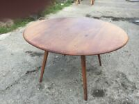 ERCOL GOLDEN DAWN DROP LEAF DINING TABLE, AGE RELATED SIGNS OF USE, DELIVERY AVAILABLE