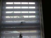 Day/Night blinds White 105 CM Wide, 150 CM drop NEW In Box Privacy but Light Perfect