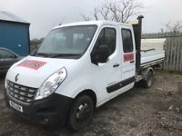 Renault master 2013 euro 5 breaking double cab door bumper bonnet rear axel