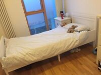 Child's single IKEA extendable Sundvick bed with John Lewis mattress, as new
